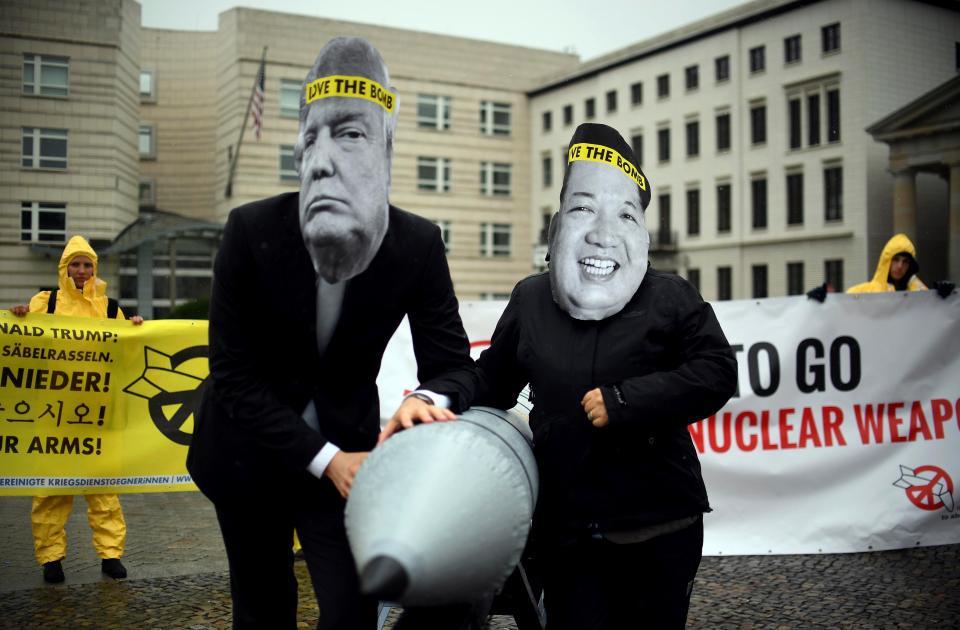 Donald Trump and Kim Jun Un