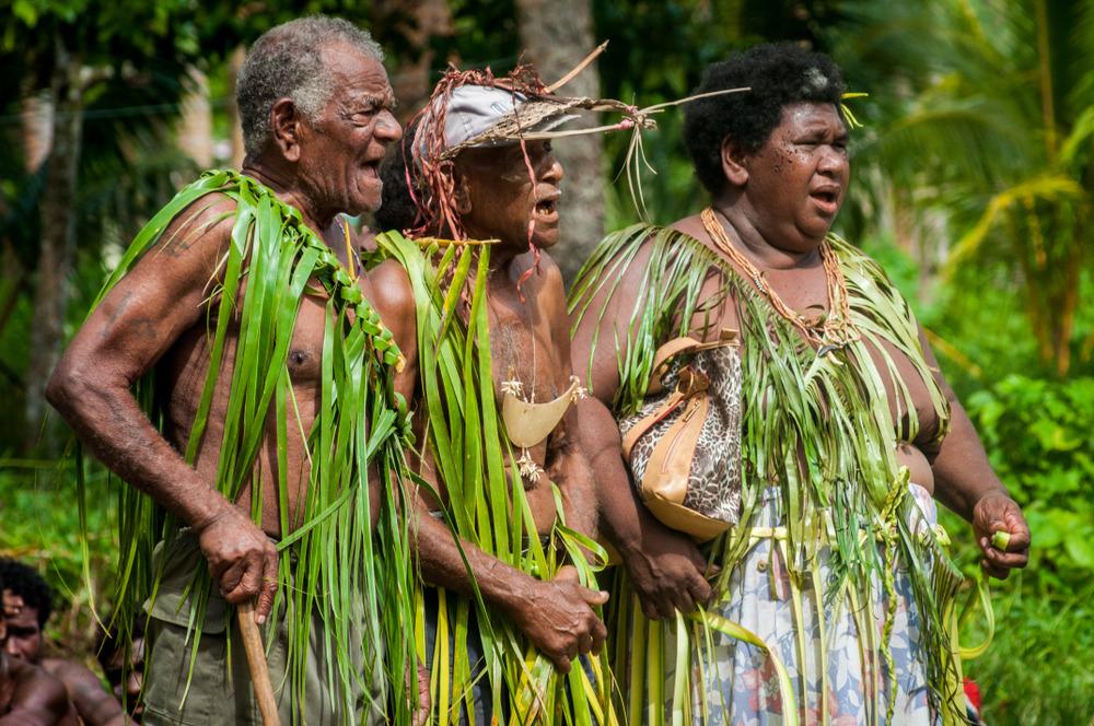 Ancient tattoos Solomon Islands